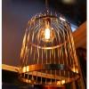 Suspension Cage a Oiseaux style vintage industriel - Pour Ampoule a filament Edison