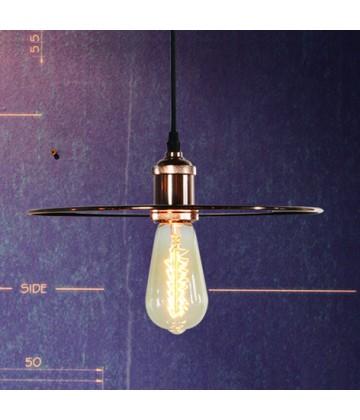 suspension vintage cuivre rose pour ampoule filament edison. Black Bedroom Furniture Sets. Home Design Ideas