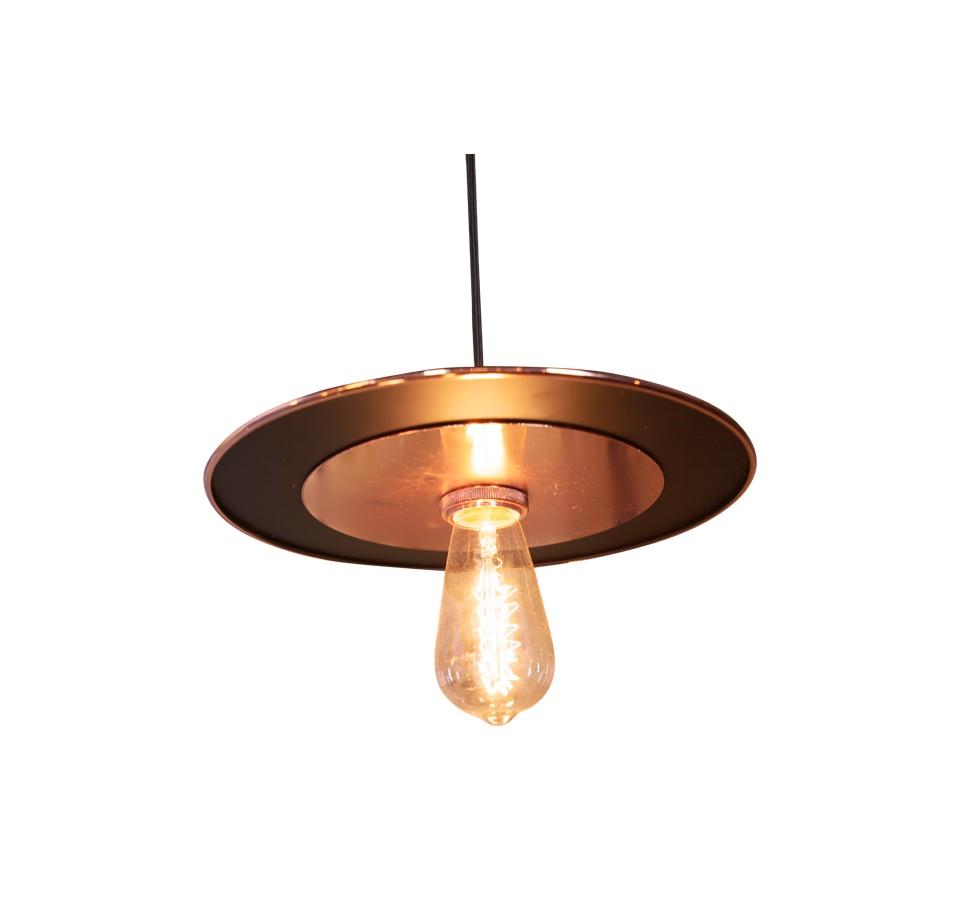 suspension vintage cuivre rose pour ampoule filament. Black Bedroom Furniture Sets. Home Design Ideas