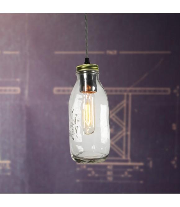 Suspension style Vintage Bocal Grand modèle- Pour Ampoule a filament Edison