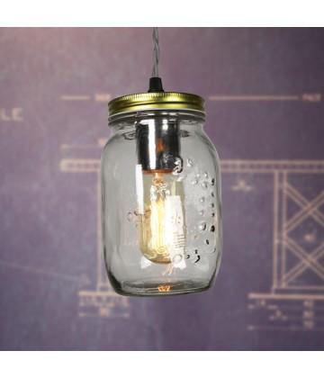 suspension vintage style bocal pour ampoule filament edison. Black Bedroom Furniture Sets. Home Design Ideas