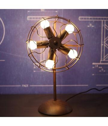 lampe poser ventilateur vintage ampoule a filament edison. Black Bedroom Furniture Sets. Home Design Ideas