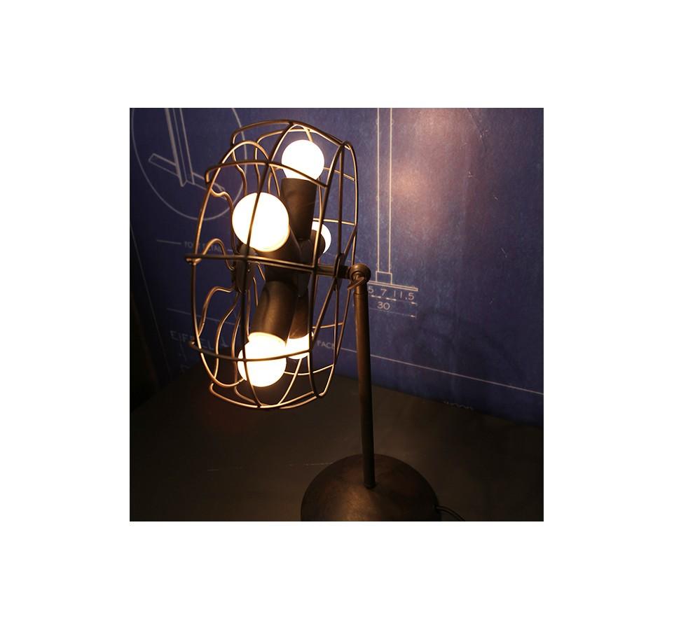 Lampe À Ampoule Poser A Edison Filament ventilateur Vintage b7gy6f