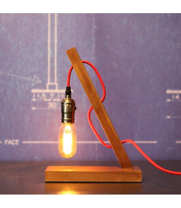 Bois À Pour Filament Edison Lampe A PoserSocle Naturel Ampoule xCBtrhdosQ