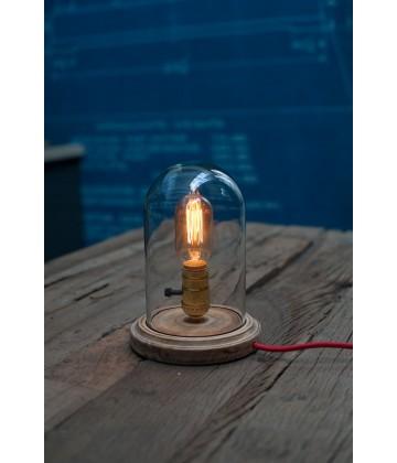 Lampe a poser - globe verre style vintage industriel pour ampoule a filament Edison