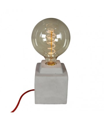 Lampe a poser - socle beton carre