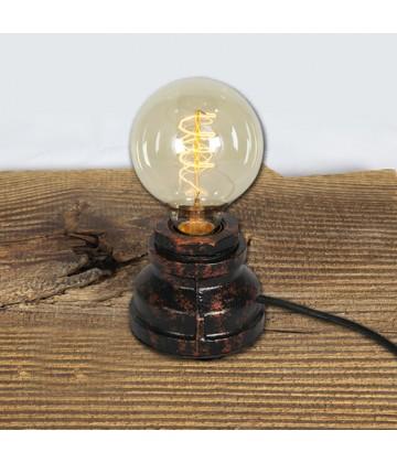 Lampe a poser - socle acier rond