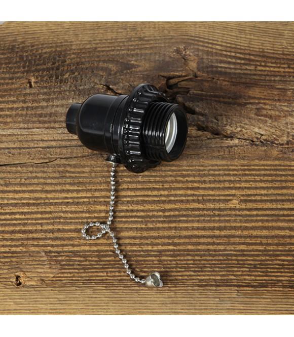 Douille bakelite avec interrupteur style Vintage Industriel