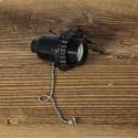 Douille bakelite avec interrupteur a tirette style Vintage Industriel