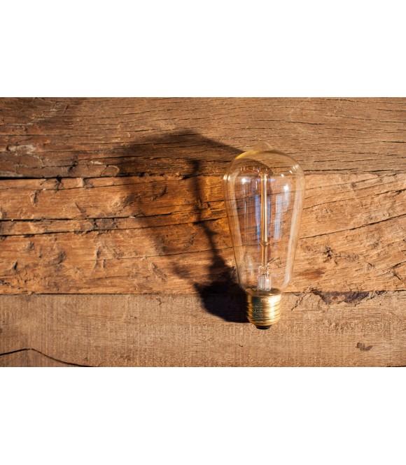 Poire Ampoule à Filament Edison à cage d'écureuil E27 style Vintage Industriel ST 58