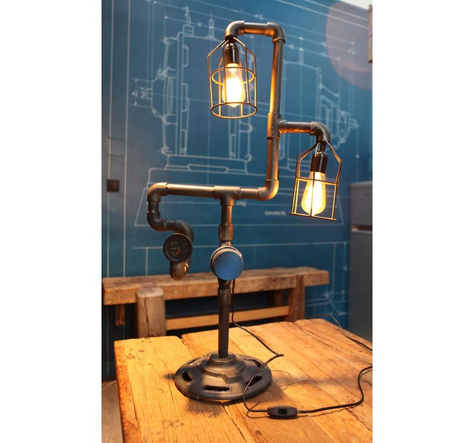 Lampe Industriel Poser Vintage Compteur Tubeamp; À v8yPn0wOmN
