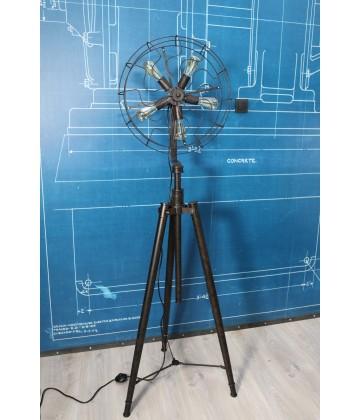 Lampadaire sur Trepied Style Ventilateur Vintage industriel